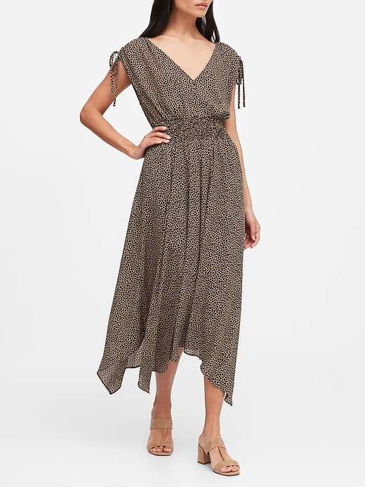 Petite Giraffe Print Midi Dress