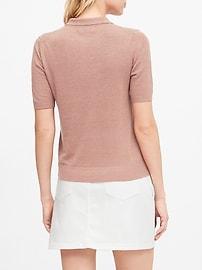 Linen-Blend Sweater Polo