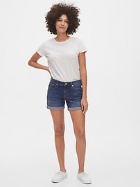 "5"" Mid Rise Denim Shorts"