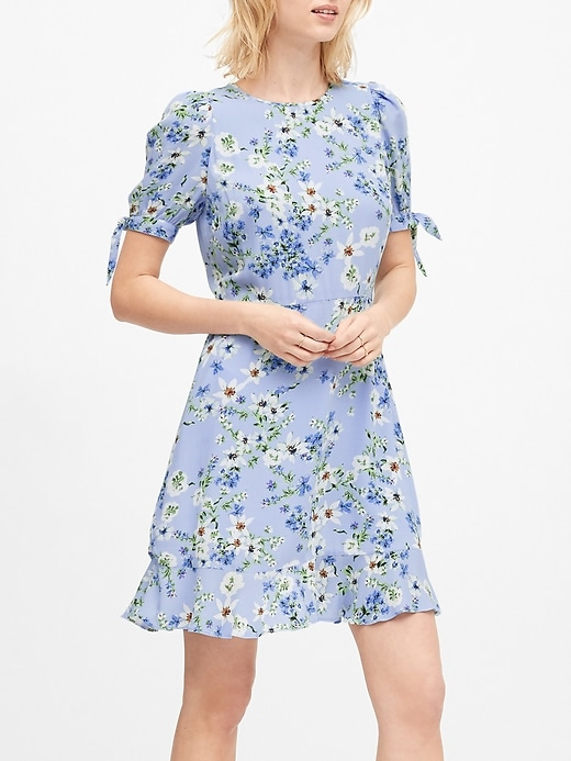 ECOVERO&#153 Puff-Sleeve Dress