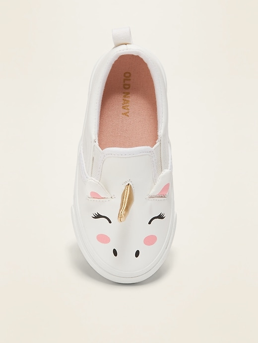 Unicorn Slip-Ons For Toddler Girls