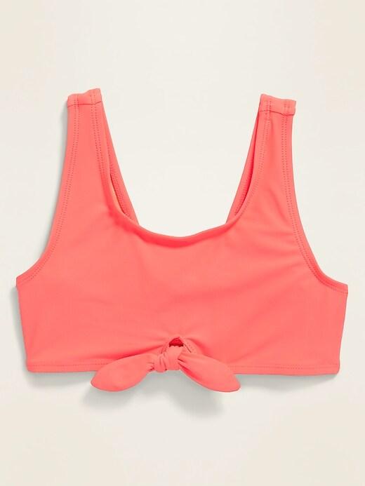Tie-Front Swim Top for Girls