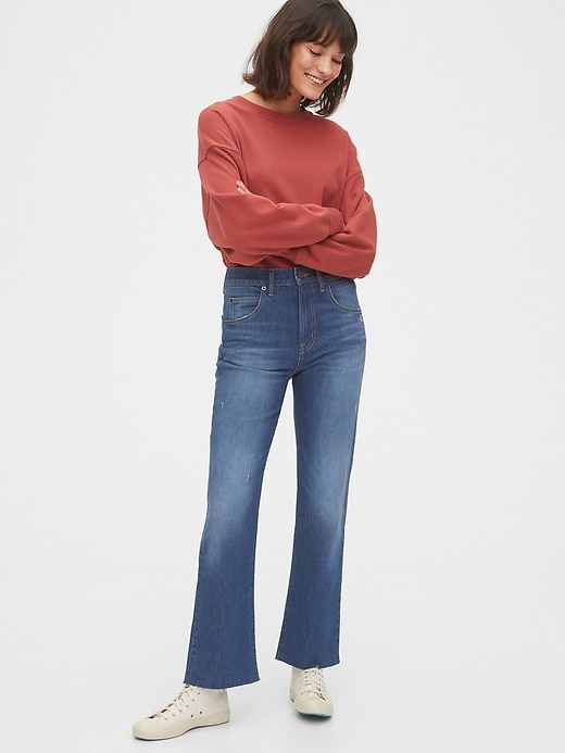 High Rise Ankle Flare Jeans
