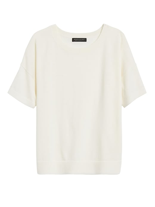 Petite Washable Merino Short-Sleeve Sweater