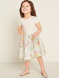 Short-Sleeve Tutu Dress for Toddler Girls