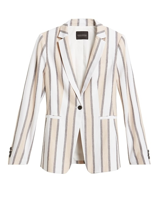 Petite Long & Lean-Fit Linen-Blend Blazer