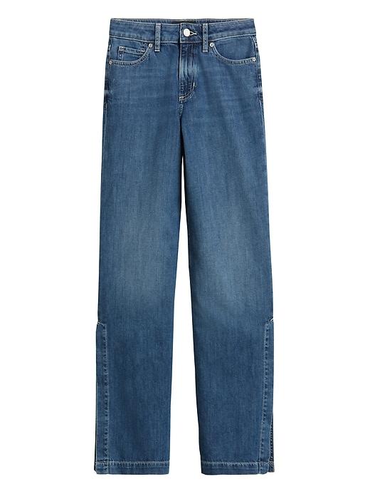 High-Rise Wide-Leg Jean with Split Hem