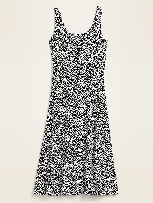 Sleeveless Jersey-Knit Fit & Flare Midi Dress for Women