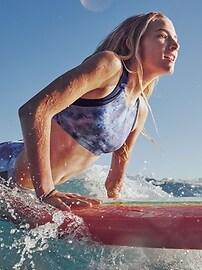 Athleta Girl Multi Tie Dye Bikini Top