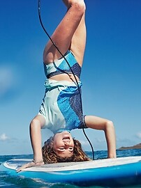 Athleta Girl Dot Brush Bikini Bottom