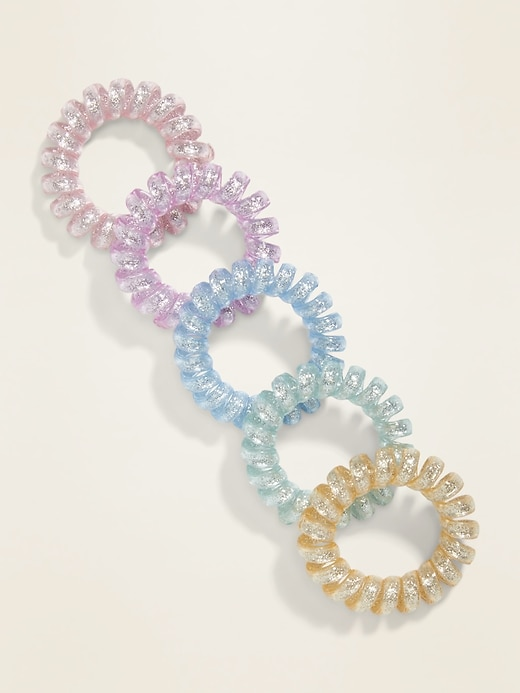 Spiral Hair Ties 5-Pack For Women