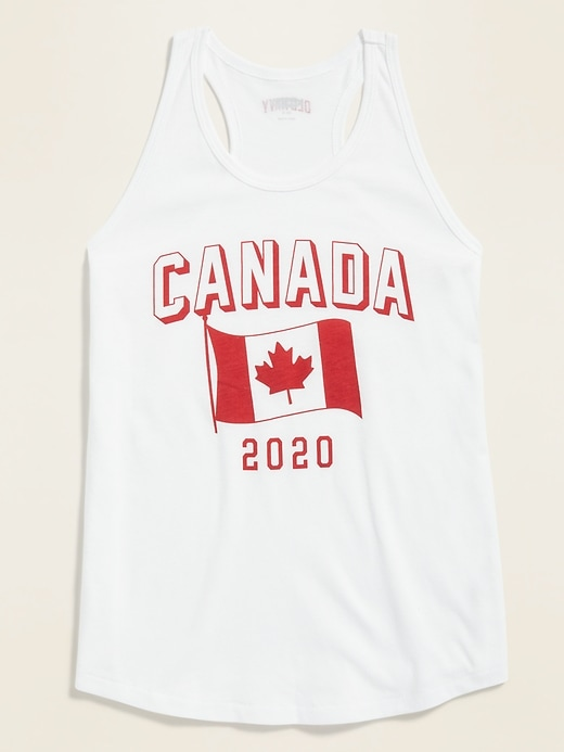 2020 Canada Flag Graphic Tank Top for Girls
