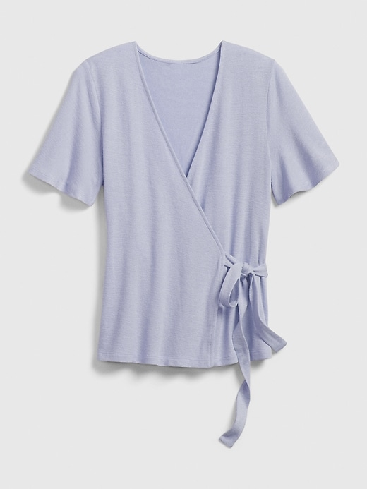 Short Sleeve Wrap-Front Top