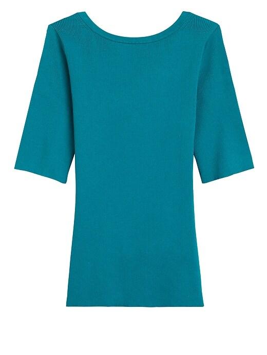Reversible Scoop-Back Sweater Top