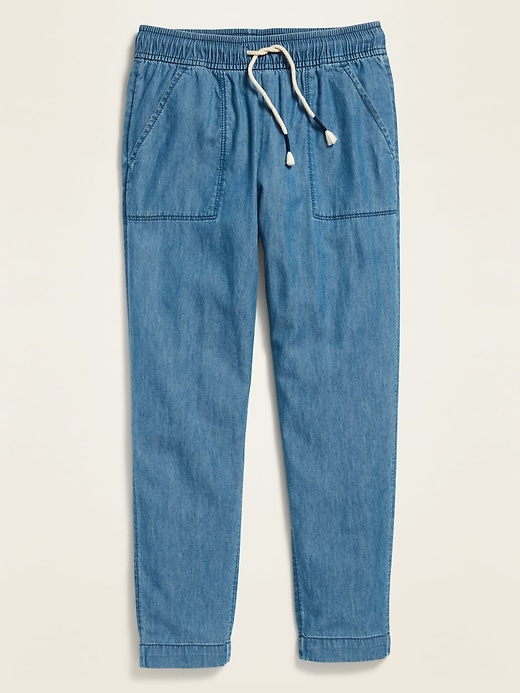 Chambray Soft Pants for Girls