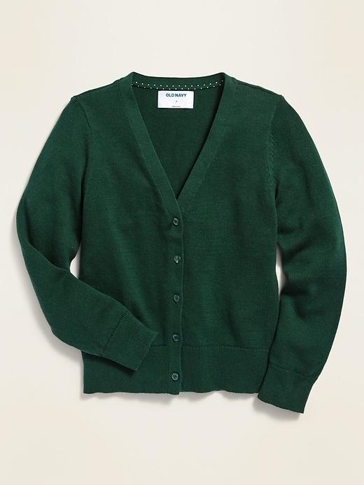 Uniform V-Neck Cardigan for Girls