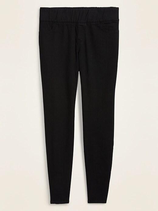 Mid-Rise Super Skinny Plus-Size Black Jeggings