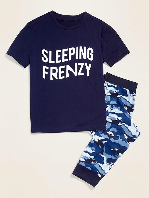 Graphic Pajama Tee & Pajama Joggers Set for Boys