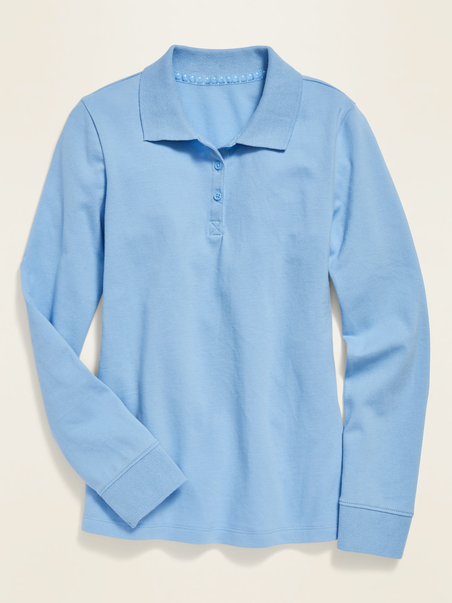 *Best Seller* Uniform Long-Sleeve Pique Polo for Girls
