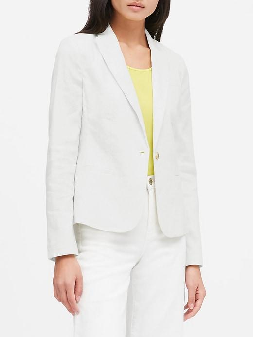 Petite Classic-Fit Linen-Cotton Blazer