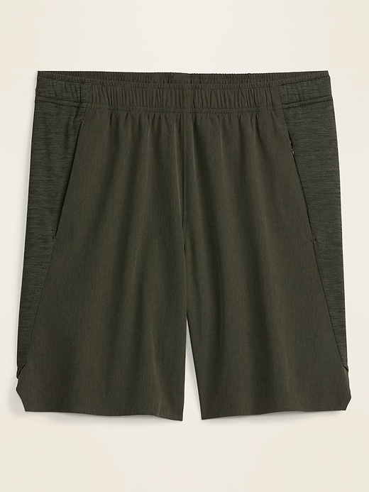 Go-Dry Woven/Mesh Hybrid Workout Shorts for Men -- 9-inch inseam