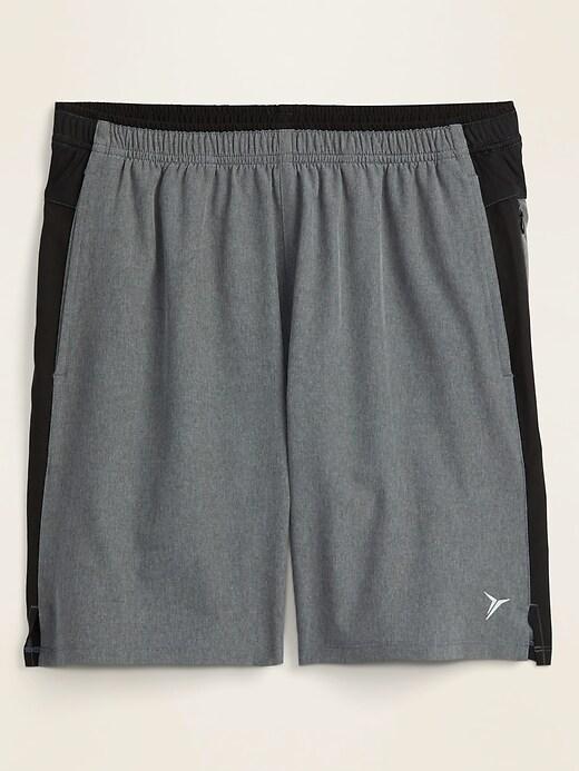 Quick-Dry Color-Blocked Built-In Flex Run Shorts for Men -- 7-inch inseam