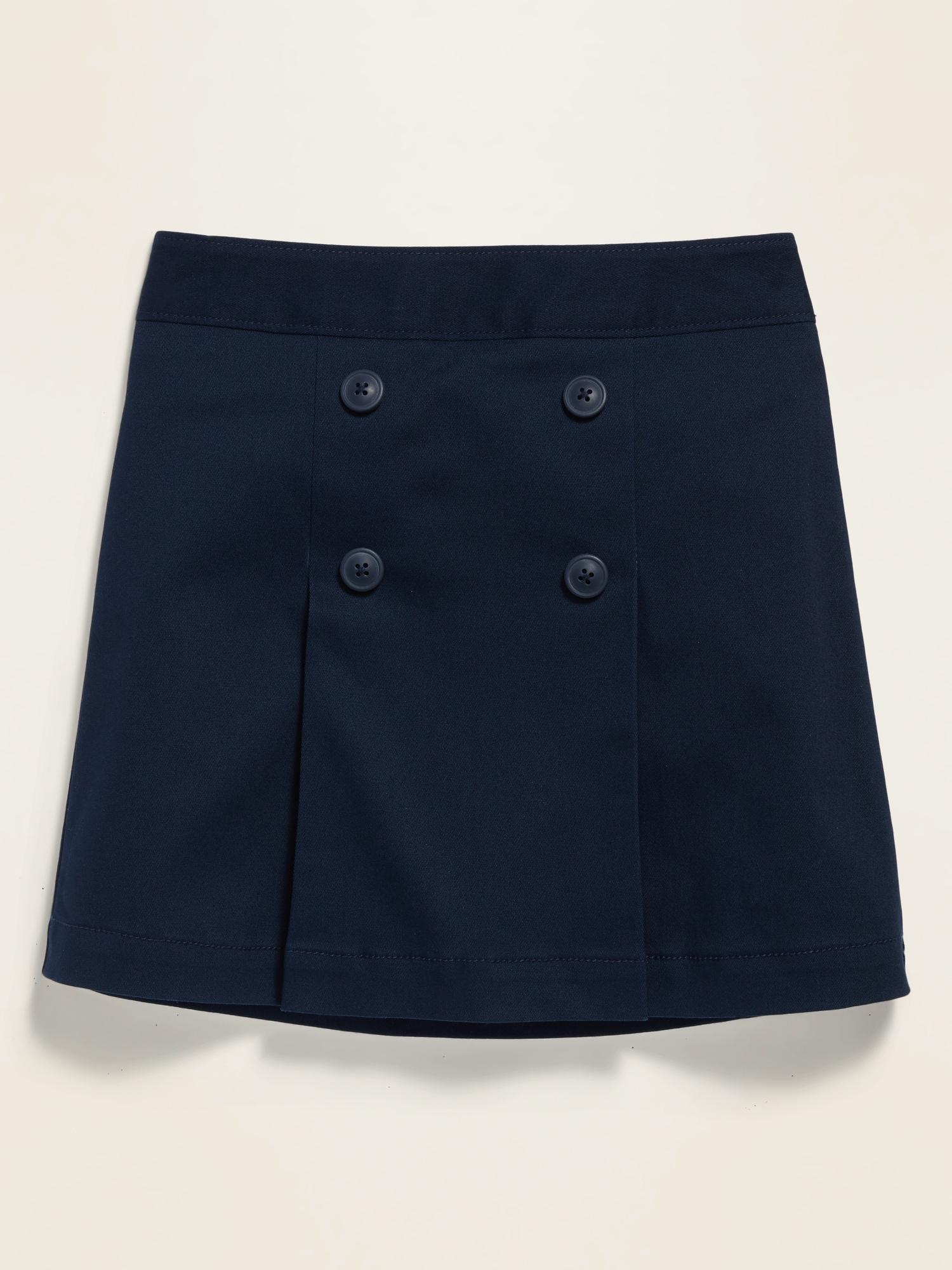*Best Seller* Uniform Pleated Twill Skort for Girls