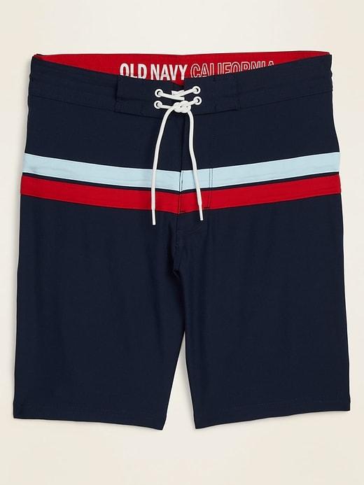 Color-Blocked Built-In Flex Board Shorts for Men -- 10-inch inseam