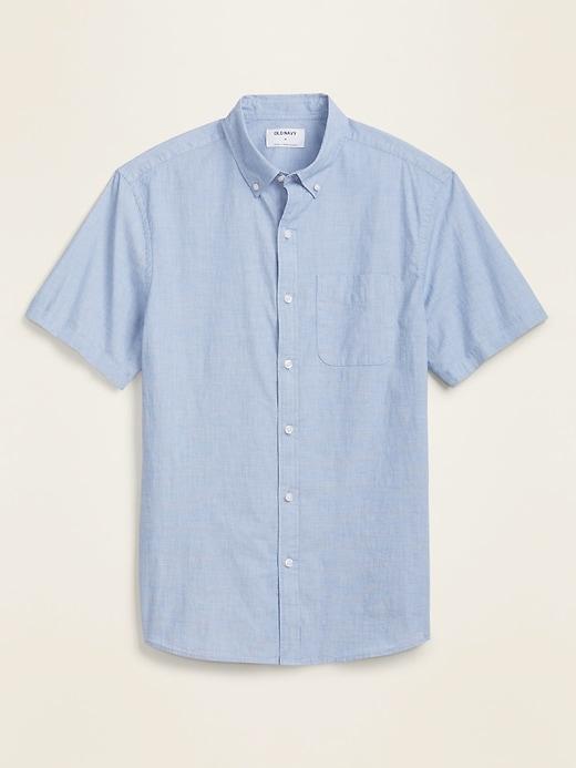 Built-In Flex Printed Everyday Short-Sleeve Shirt for Men