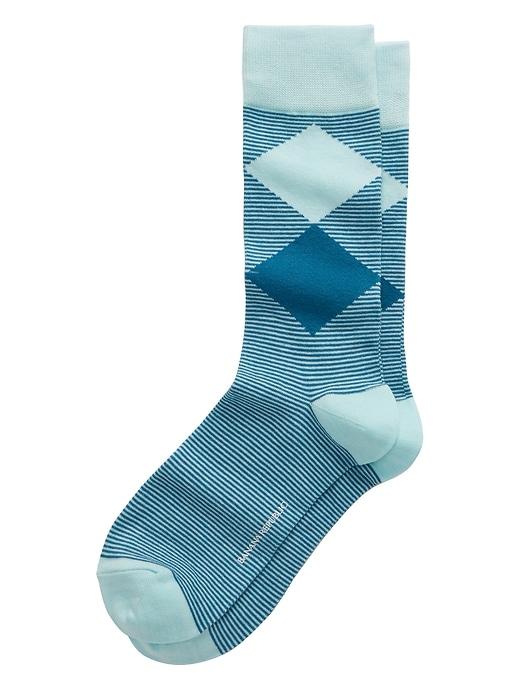 Double Diamond Sock