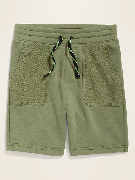 Functional-Drawstring French-Terry Shorts for Toddler Boys