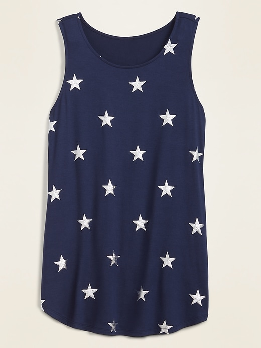 Printed Luxe High-Neck Tank Top for Women