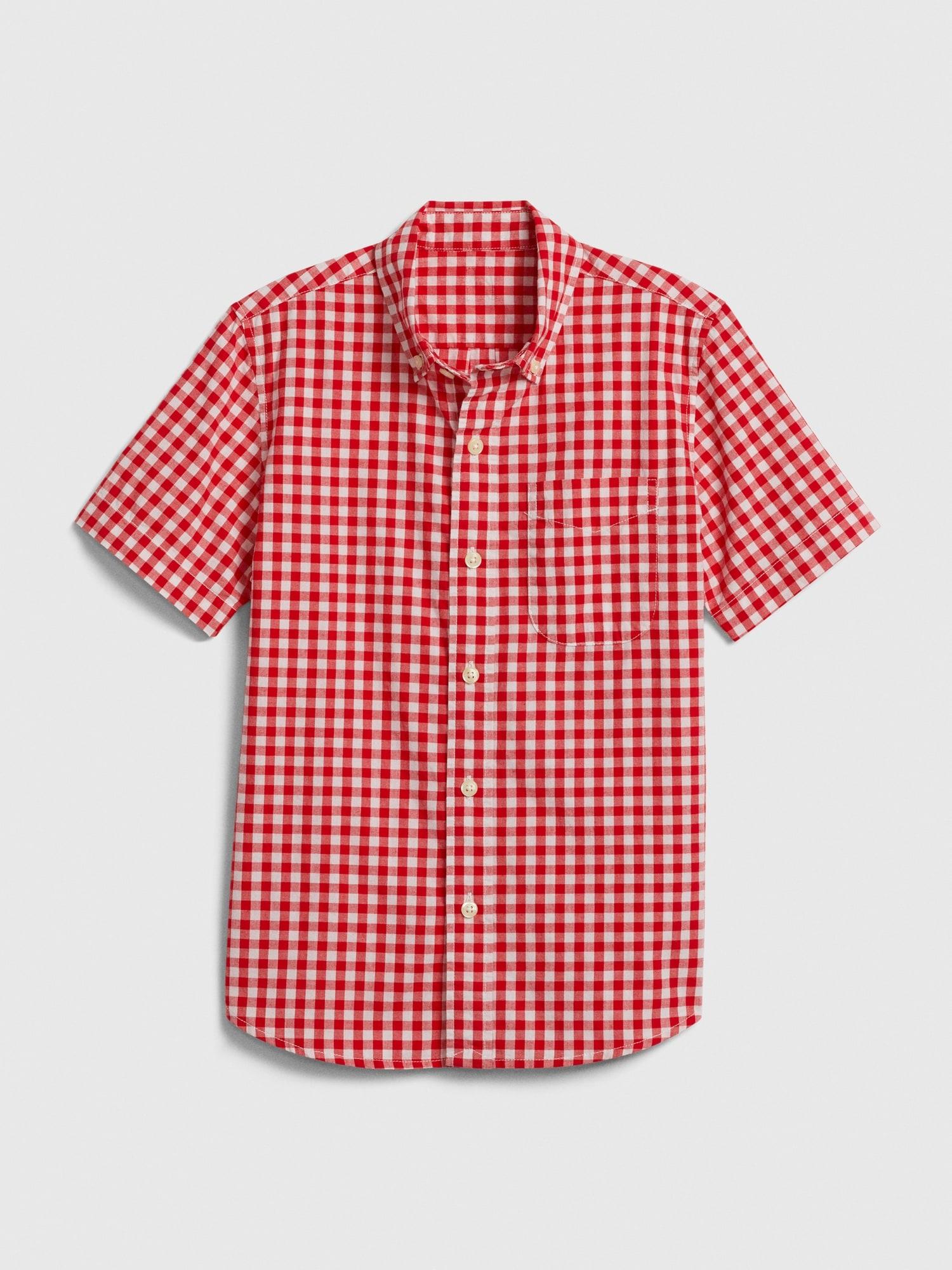 プレード ボタンダウンシャツ (キッズ)
