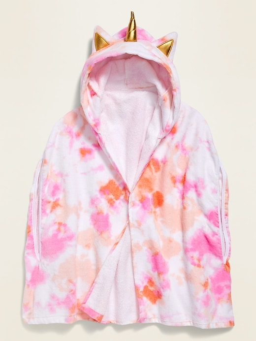 Loop-Terry Critter Swim Cover-Up Robe for Girls