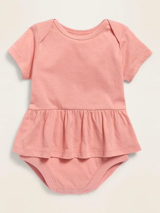 Peplum-Hem Bodysuit for Baby