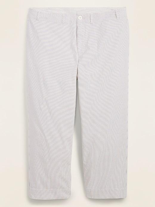 High-Waisted Secret-Slim Plus-Size Wide-Leg Chinos