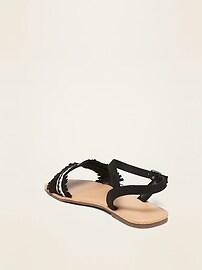 Faux-Suede Fringe Sandals for Girls