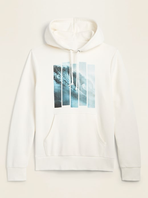 Waves Graphic Pullover Hoodie for Men