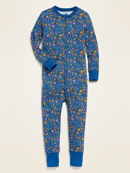 Floral Pajama One-Piece for Toddler Girls & Baby