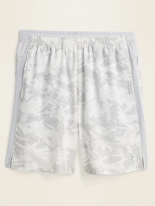 Printed Quick-Dry Built-In Flex Run Shorts for Men -- 7-inch inseam