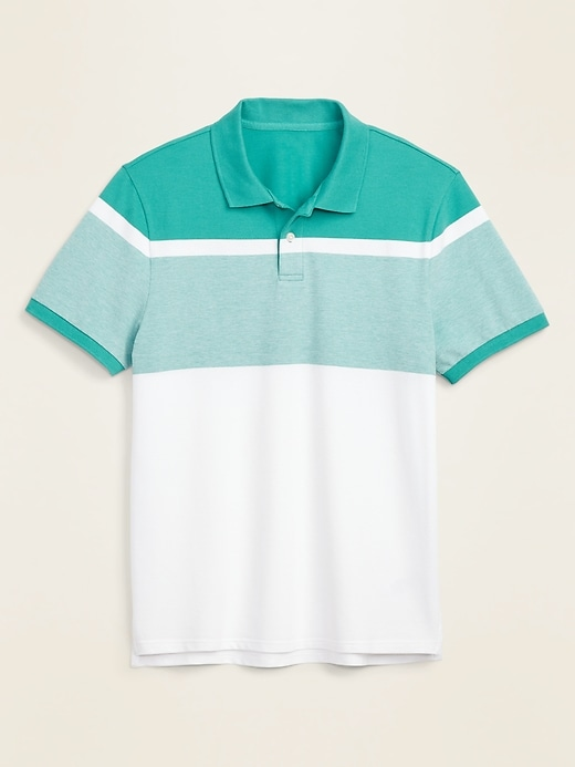 Moisture-Wicking Color-Blocked Pro Polo for Men