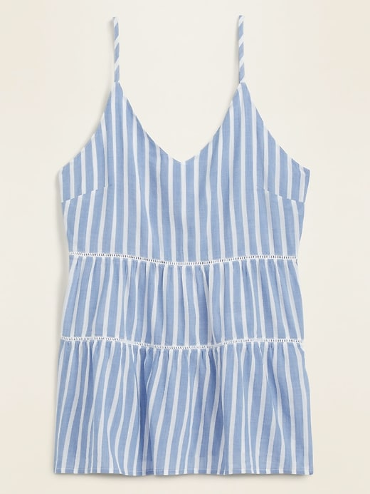 Striped Smocked-Back Tiered Cami for Women