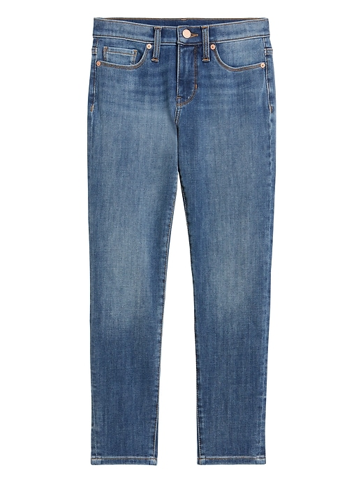 Petite Mid-Rise Skinny Jean with Back-Seam