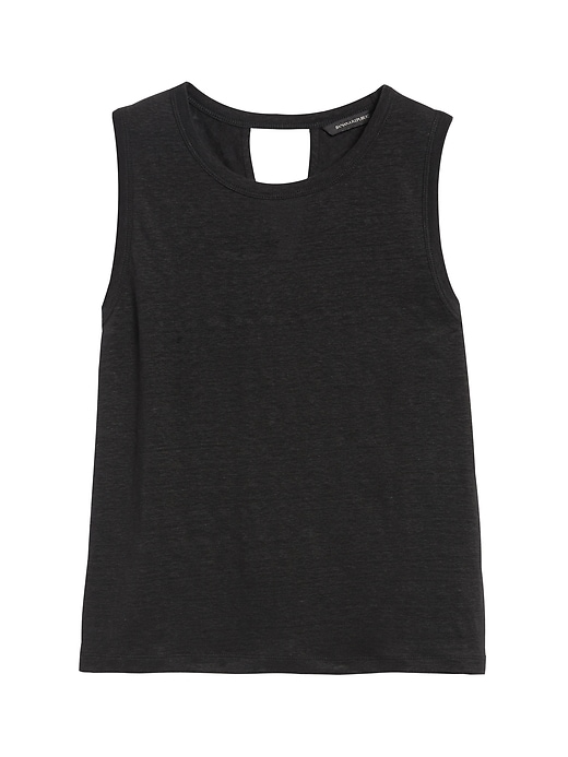 Linen Twist-Back Cropped Tank