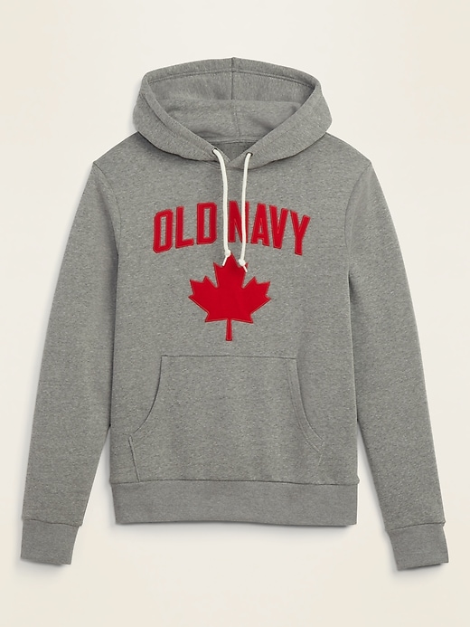 Logo Maple-Leaf Graphic Pullover Hoodie for Men