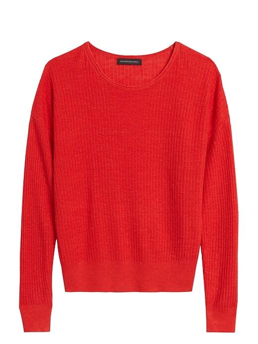 Petite Linen-Blend Sweater