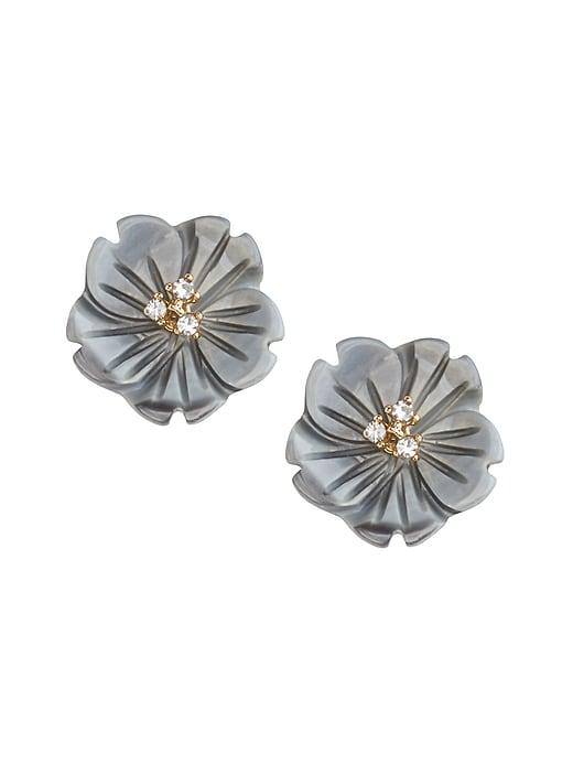Floral Shell Stud Earrings
