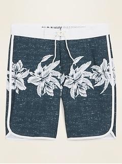 Oldnavy Printed Built-In Flex Dolphin-Hem Board Shorts for Men -- 10-inch inseam