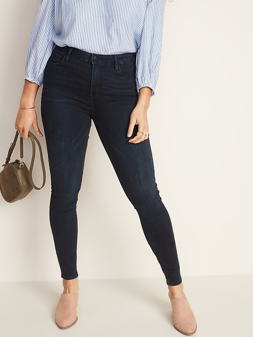 High-Waisted Rockstar Super Skinny Jeans For Women
