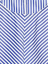Petite Stripe Poplin Cropped Shell